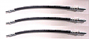 FRONT & REAR BRAKE HOSES x3 (Wolseley 6/110 Mk1) (1961- 64 Only)