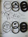 REAR BRAKE CALIPER REPAIR SEALS KITS x2 (Aston Martin V8) (Volante & Vantage) (1977- 89)