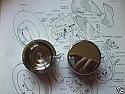 FRONT BRAKE CALIPER PISTONS x2 (** STAINLESS STEEL **) (Triumph Dolomite) (1300 & 1500) (1976- 80)