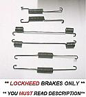 REAR BRAKE SHOE SPRINGS x6 (Triumph TR7 {5 Speed & Auto} & TR8) (1975- 81)