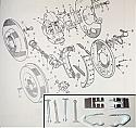 REAR BRAKE SHOE FITTING (Hold Down) KIT (Austin A60 Cambridge)  (1961- 71)