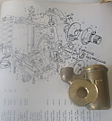 FRONT LOWER TRUNNION JOINT x1 (Triumph TR4a TR5 TR6) (Left Side)