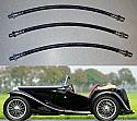 FRONT & REAR BRAKE HOSES x3 (MG TC) (1945- 50)