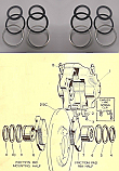 FRONT BRAKE CALIPER REPAIR SEALS KITS x2 (Austin A99, A110 Mk1 Westminster) (** 1959- 64 Only **)