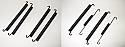 FRONT & REAR BRAKE SHOE SPRINGS x8 (Morris J Type & JB Van) (1949- 61)