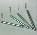 REAR BRAKE PAD FITTING KIT - PINS (Lamborghini Miura) (** For Vented Discs **) (** From 1970- 73 **)