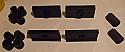 REAR SPRING BUSHES KIT - SPRING EYE BUSHES, SHACKLE BUSHES & SPRING PADS (MG Midget) (1961- 79)