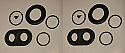 FRONT BRAKE CALIPER REPAIR SEALS KITS x2 (AC 289 V8, AC 428) (To Dec 69 Only)