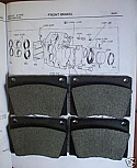 FRONT BRAKE PADS SET (Fiat 1500 1500L 1600S 1800 1800B 2300) (Jul 62- 69)