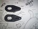 REAR BRAKE WHEEL CYLINDER GAITERS x2 (Ford Cortina Mk1) (1200cc & 1500cc) (1962- 66)