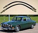 FRONT BRAKE HOSES x2 (Jaguar 420) (1966- 68)