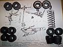 FRONT SUSPENSION BUSH KIT x12 (MG Midget) (1961- 79)