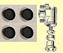 FRONT BRAKE WHEEL CYLINDER REPAIR SEALS KITS x4 (Wolseley 15/50) (1956- ) (Early Type)