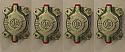 REAR BRAKE CALIPER PISTON & CYLINDER ASSEMBLY x4 (Jensen Interceptor & FF) (Mk1 Early) (** 1966- Jun 68 Only **)